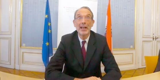 Forschungsminister Faßmann im Rahmen der Video-Pressekonferenz am 11. Dezember 2020
