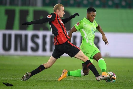 Wolfsburg gewinnt gegen Frankfurt.