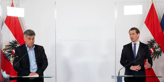Bundeskanzler Sebastian Kurz (r.) und Vizekanzler Werner Kogler.
