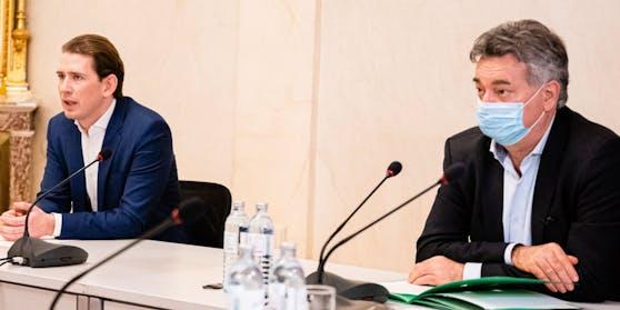 Hier verkündeten Sebastian Kurz und Werner Kogler den Ländern ihre Pläne.