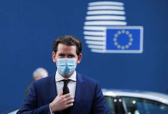 Österreichs Kanzler Sebastian Kurz beim EU-Gipfel in Brüssel.