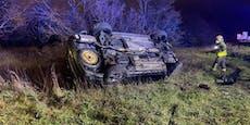Autofahrer überschlug sich mehrmals auf Südosttangente
