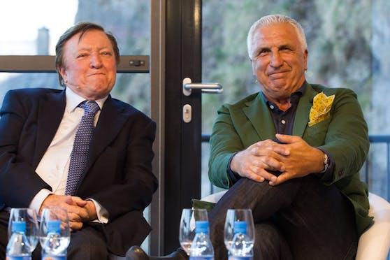 Otto Baric (l.) und Hans Krankl bei einer Veranstaltung im Jahr 2015.