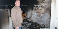 Feuer in Fußball-Klubheim gelegt: Polizei jagt Zündler