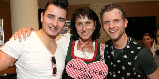 Gemeinsam stark: Andreas Gabalier mit Mama Huberta und Bruder Willi
