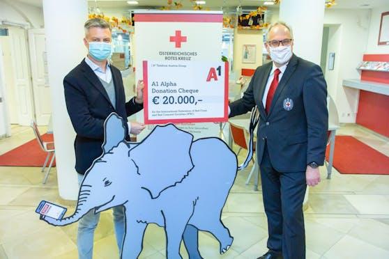 A1 spendet 20.000 Euro für die COVID-19 Bekämpfung.