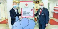 A1 spendet 20.000 Euro für die COVID-19 Bekämpfung