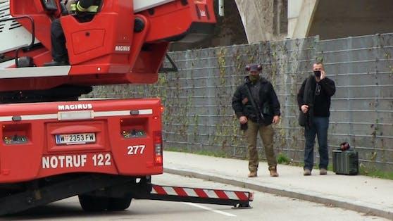Die Elitepolizisten der Cobra schossen in Floridsdorf auf eine Gasflasche.