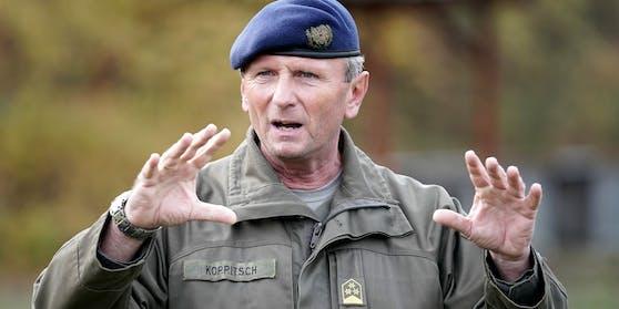 Oberst Otto Koppitsch am 19. November 2019 im Rahmen eines Fototermins des Bundesheers