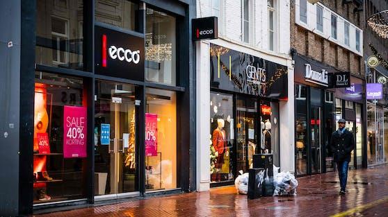 Eine leere Shoppingstraße am 14.12. inEindhoven, Holland.