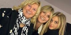 Verblüffende Ähnlichkeit: Heidi, Leni und Oma Erna