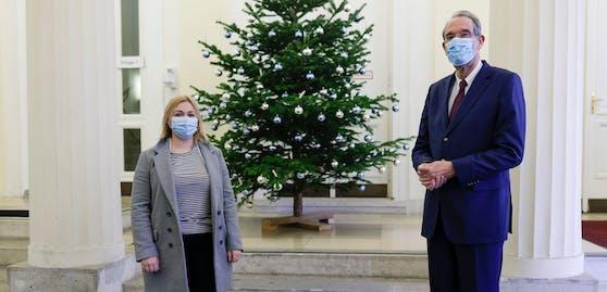 ÖH-Bundesvorsitzende Sabine Hanger und Wissenschaftsminister Heinz Faßmann (ÖVP).