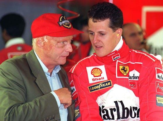 Niki Lauda und Michael Schumacher