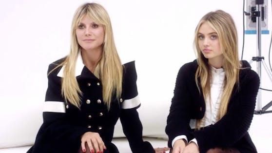 """Heidi und Leni Klum mischen als Mutter-Tochter-Gespann seit zwei Monaten die Modebranche auf. Wie ähnlich sie sich schon als Teenager waren, beweist ein neu aufgetauchtes Jugendfoto der """"Topmodel""""-Chefin."""