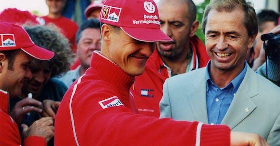 Kasper mit Renn-Legende Michael Schumacher