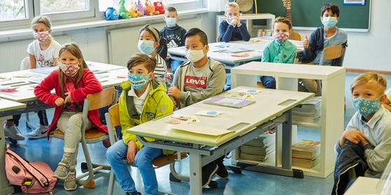 Maskenpflicht im Unterricht - bis auf die Volksschule.