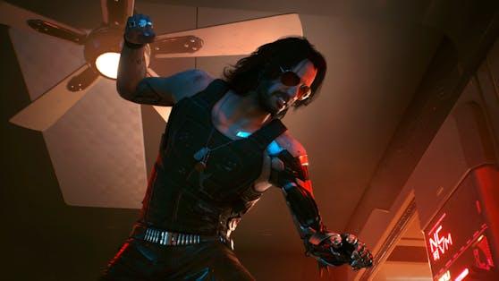 """Keanu Reeves spielt Johnny Silverhand in """"Cyberpunk 2077""""."""