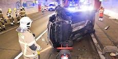 22-Jähriger crasht Volkswagen in Tunnel, Rad abgerissen