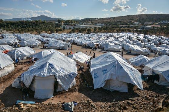 Ein Flüchtlingslager in Griechenland.