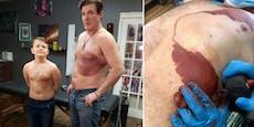 Vater rührt mit diesem riesigem Tattoo alle zu Tränen