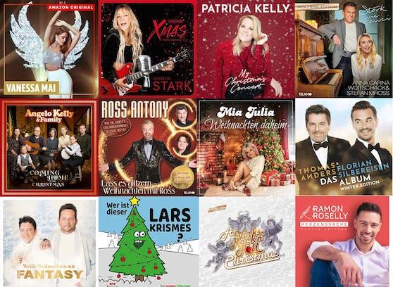 Eine kleine Auswahl der Schlager-Veröffentlichungen in der Weihnachtszeit