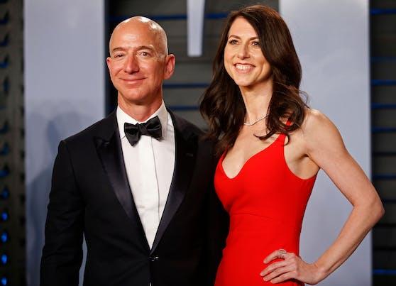 Amazon-Gründer Jeff Bezos und seine damals Noch-Ehefrau Mackenzie Scott bei der Vanity Fair Oscar Party 2018.