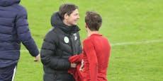 Warum sich Coach Glasner das Trikot von Müller holte