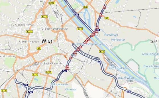 Stau-Chaos am Donnerstag in Wien