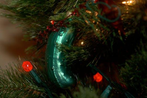 Schon einmal ein Gurkerl im Christbaum entdeckt?