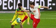 Leipzig patzt gegen Köln, Ilsanker-Tor für Frankfurt