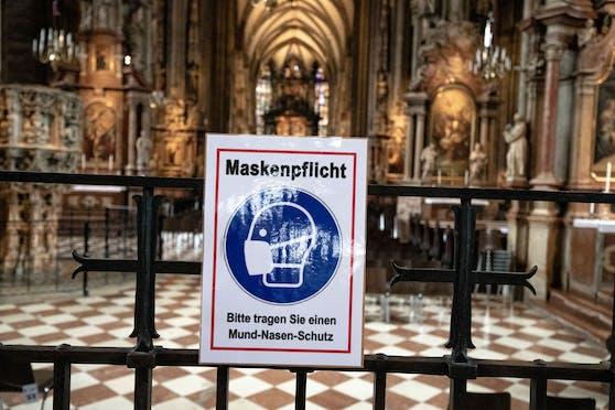 Im Wiener Stephansdom gilt Maskenpflicht.