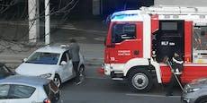 VW-Lenker crasht mit Feuerwehr-Auto in Floridsdorf