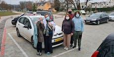 Familie fuhr 2.000 Kilometer, um kurz Eltern zu sehen
