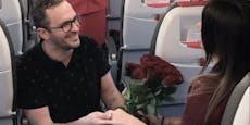 AUA-Passagier macht Freundin Antrag über den Wolken