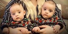 Christkind bringt tapferen Zwillingen Hochstühle
