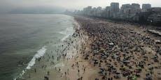 Strände voll: Bewohner in Rio pfeifen auf Corona-Regeln