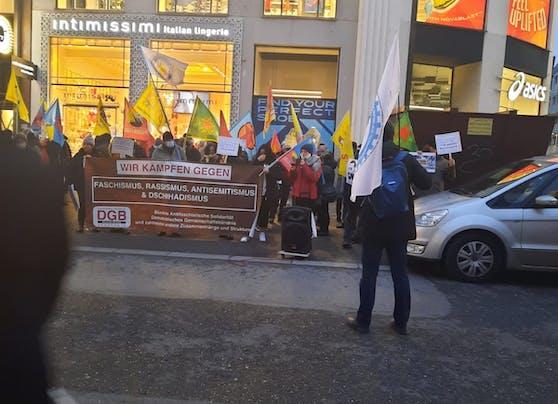 Am Samstag kam es zu zwei Demos in Wien.