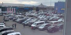 SCS-Parkplatz vor Weihnachten komplett voll