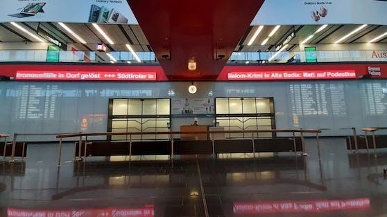 Die Ankunftshalle des Flughafen Wien.