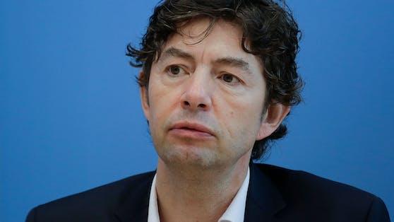 Virologe Christian Drosten im Rahmen einer Pressekonferenz am 9. Oktober 2020