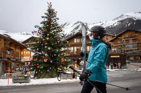 Der Schweizer Wintersportort Verbier rechnet mit einem Massenansturm in den Feiertagen