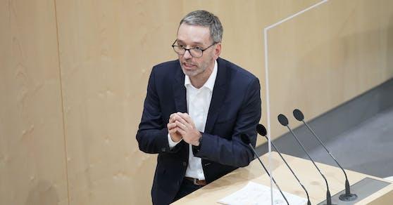 Herbert Kickl (FPÖ) im Parlament.