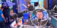 Harald Mahrer tanzt im Ö3-Studio zu den Spice Girls