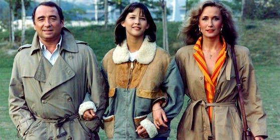 "Claude Brasseur, Sophie Marceau und Brigitte Fossey in ""La Boum 2"""