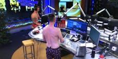 Kratky und Knoll ziehen sich im Ö3-Studio nackt aus