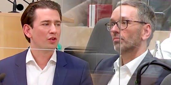 Bundeskanzler Sebastian Kurz hat im Parlament scharfe Worte an Herbert Kickl gerichtet.