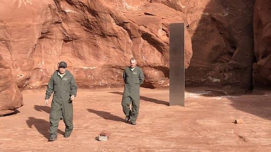 Der (erste) mysteriöse Monolith in der Wüste von Utah