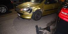 Viele demolierte Autos nach Alko-Fahrt durch Siedlung
