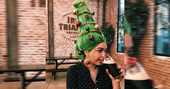 Wer braucht schon einen Weihnachtsbaum, wenn er Haare hat?