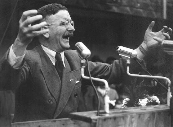 Der österreichische Politiker Leopold Figl in einer zeitgenössischen Aufnahme.